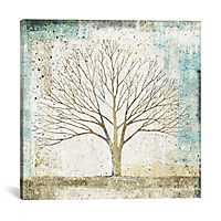 Solitary Tree Collage Canvas Art Print