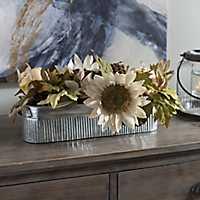 Galvanized Sunflower Arrangement