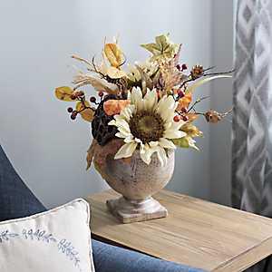 Sunflower and Pumpkin Arrangement