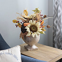 Sunflower and Pumpkin Arrangement