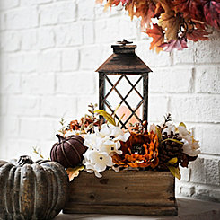 Natural Crate Lantern Centerpiece