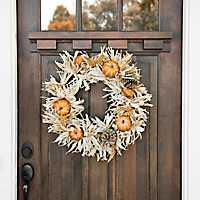 Cornhusk Pumpkin Wreath