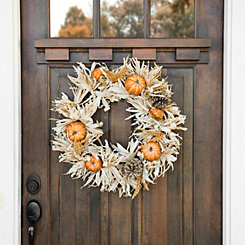 Cornhusk Pumpkin Wreath