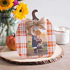 Plaid Pumpkin Clip Frame