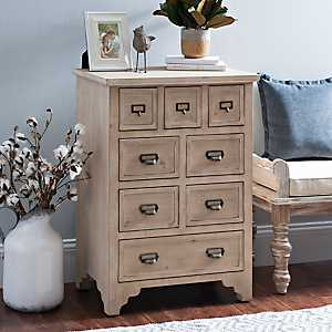 Whitewashed Wooden Farmhouse Chest