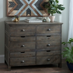 Rustic Farmhouse 6-Drawer Chest