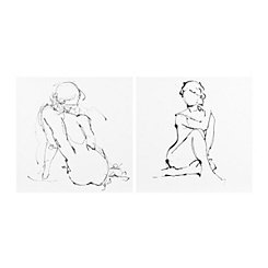 Graceful Lady Sketch Canvas Art Prints
