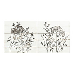 Pen and Ink Florals Canvas Art Prints