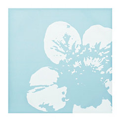 Blue Floral Canvas Art Print