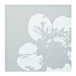 Simple Gray Floral Canvas Art Print