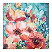 Bright Floral Canvas Art Print