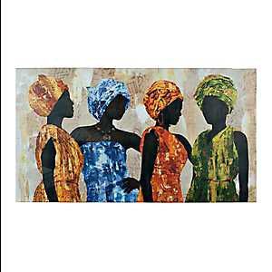 Ladies in a Row Canvas Art Print