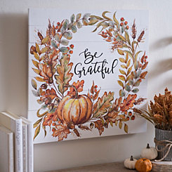 Be Grateful Wreath Wall Plaque