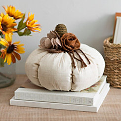 White Fabric Pumpkin Statue