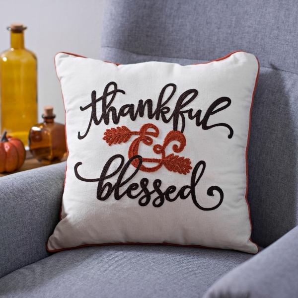Thankful U0026 Blessed Harvest Pillow