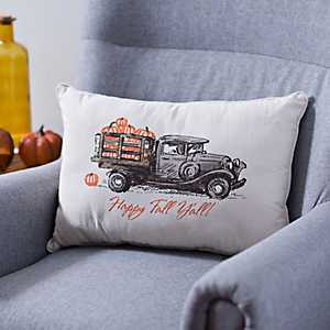 Happy Fall Y'all Truck Pillow