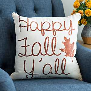 Harvest Happy Fall Y'all Pillow