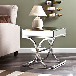 Cassatt Mirrored End Table