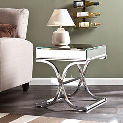 Cassatt Mirrored End Table
