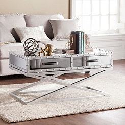 Saville Industrial Mirrored Coffee Table