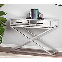 Saville Industrial Mirrored Console Table