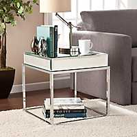 Morisot Mirrored End Table