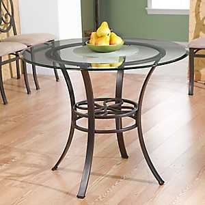 Camille Glass Top Dining Table