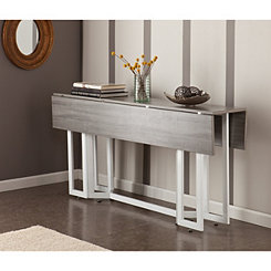 Holly and Martin Weathered Gray Drop Leaf Table