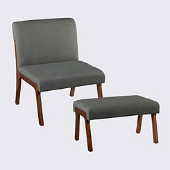 Plexus Chair and Ottoman Set