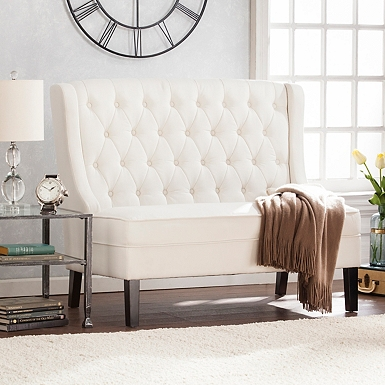 accent living room chairs. Edonia High Back Tufted Settee Accent Chairs  Arm Kirklands