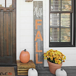 Hello Fall Porch Plaque