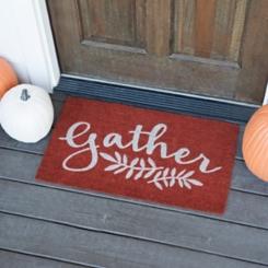 Orange Gather Doormat