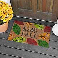 Hello Fall Leaves Doormat