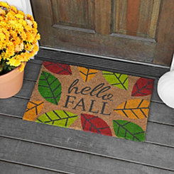 Hello Fall Leaves Doormat