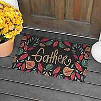 Metallic Leaves Gather Doormat