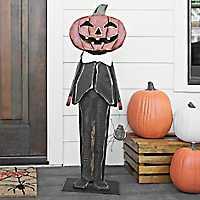 Tuxedo Pumpkin Outdoor Statue