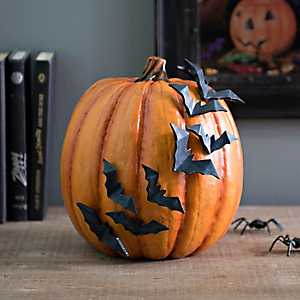 Orange Flying Bats Pumpkin