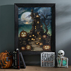 A Haunted Place Framed LED Canvas Art Print