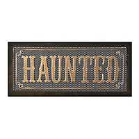 Haunted Wall Plaque