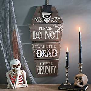Do Not Raise The Dead Coffin Wall Hanger
