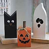 Halloween Wooden Characters, Set of 3