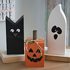 Halloween Wooden Characters, Set of 3