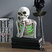 Bored Skeleton Pre-Lit Statue