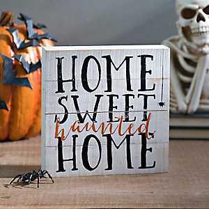 Home Sweet Haunted Pallet Word Block