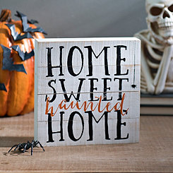 Home Sweet Haunted Pallet Word Block
