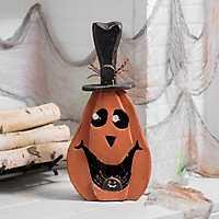 LED Top Hat Halloween Pumpkin