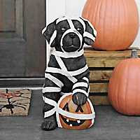 Mummy Black Lab Statue