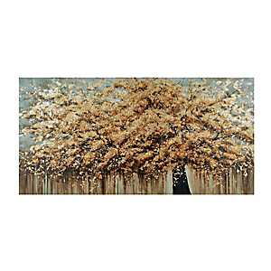 Gold Autumn Trees Canvas Art Print