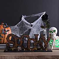 LED Halloween Spooky Tabletop Sign