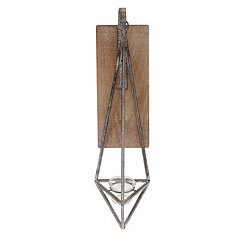 Distressed Hanging Metal Diamond Sconce